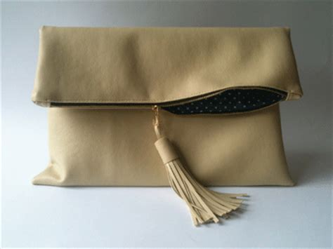 How To Make Handmade Clutches - faux leather clutch bag with tassles make a handmade bag