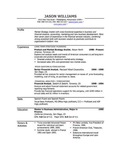 easyjob resume builder sle resume 85 free sle resumes by easyjob sle