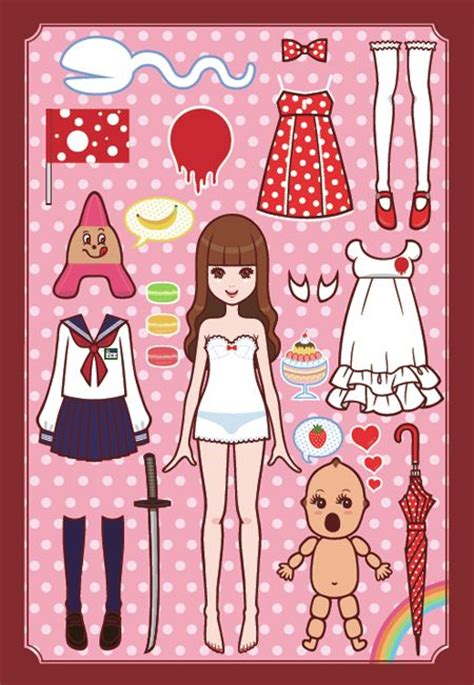 printable japanese paper dolls 506 best images about illustration printables on pinterest