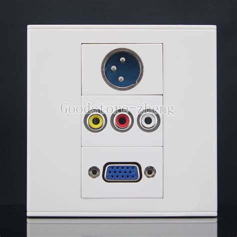 Faceplate Audio Rca Panel Outlet Socket av cable wall plate promotion shop for promotional av