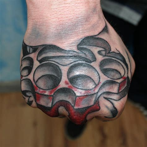 brass knuckles tattoo design brass knuckle tattoos