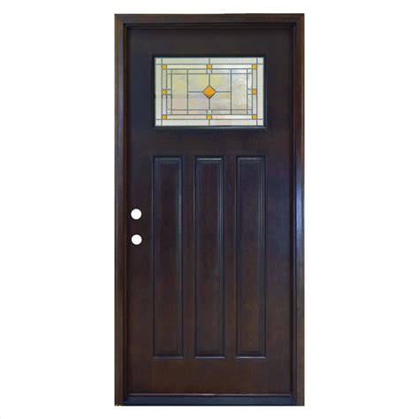 2 4 Exterior Door Steves Sons 36 In X 80 In Rustic 2 Panel Plank Stained Mahogany Wood Prehung Front Door