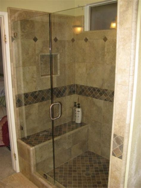 Bathroom Seats For Showers Inline Showers With Seats And Pony Walls