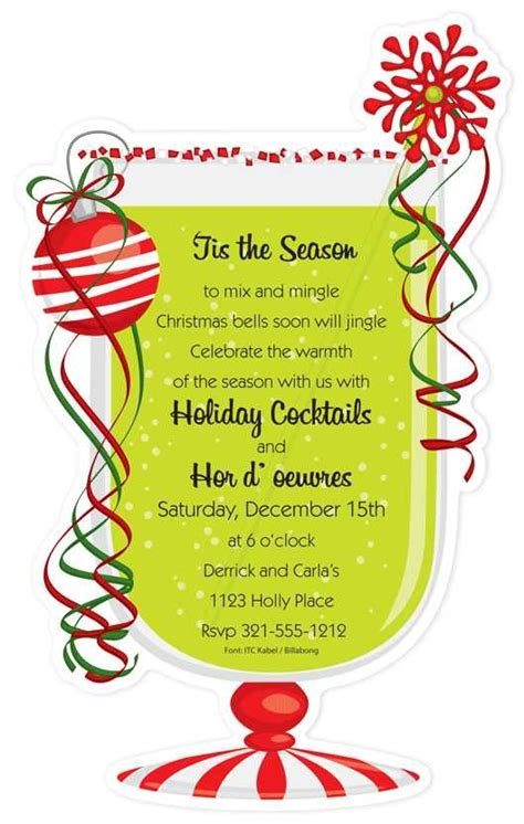 christmas cocktail party clipart 115 best christmas invitation cards images on pinterest