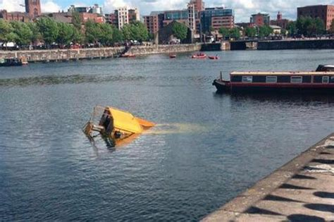 boat tour liverpool another yellow duckmarine tour bus sinks in the albert