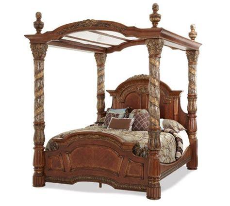 cama dosel madera michael amini villa valencia cama de madera con dosel
