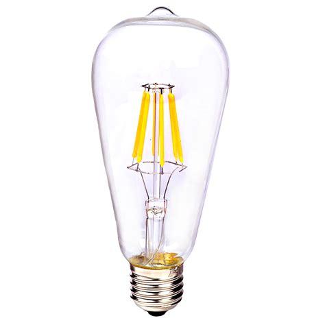 e27 e14 vintage retro edison cob led filament light l
