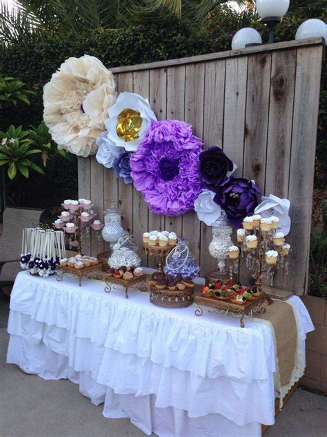 purple and green bridal shower decorations the 25 best purple dessert tables ideas on