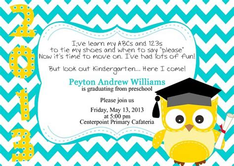 preschool graduation announcements templates graduation invitations easyday