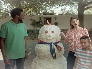 commercial woman hits snowman cadbury all tv spots