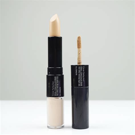 The Saem Cover Perfection Tip Concealer 01 Clear Beige the saem cover perfection ideal concealer duo review jolse
