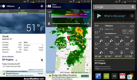 what s the best weather app for android accuweather app updated for phones and tablets brings reved ui and widgets droid