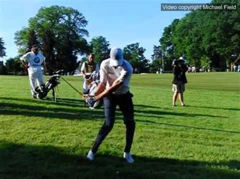 chris wood golf swing chris wood golf swing mid iron face on from downslope