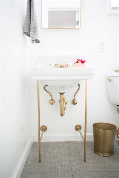 bathroom vanity with legs diy gold sink vanity legs transitional bathroom