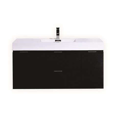 Modern Single Sink Bathroom Vanities by Bliss 48 Quot Black Wall Mount Single Sink Modern Bathroom Vanity
