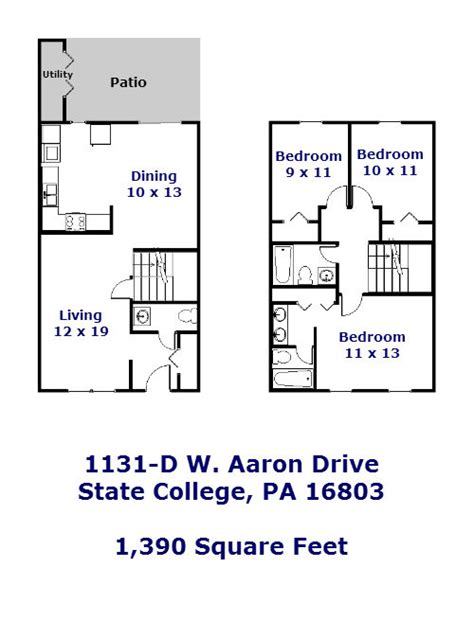 3 bedroom apartments state college pa 1131 d w aaron drive 3 bedroom townhouse for rent