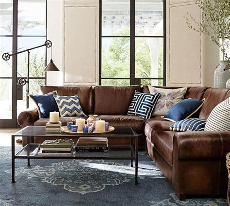 blue living room brown sofa 26 cool brown and blue living room designs digsdigs