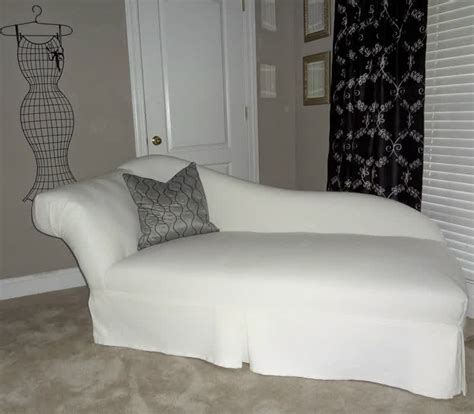 slipcovered chaise lounge white chaise lounge slipcover prefab homes choosing