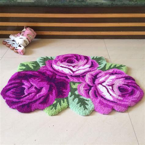 shabby chic runner rug shabby chic cottage purple roses non skid porch door floor