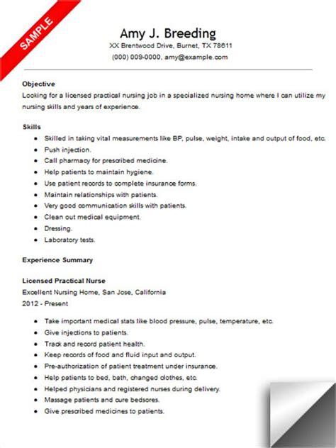 registered practical nurse resume sample elegant mesmerizing sample