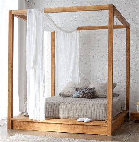 Platform Canopy Bed Low Platform Bed With Canopy And Board Cal King Size