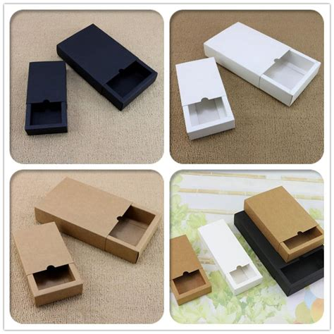 Handmade Soap Book - white black kraft paper drawer shape handmade soap