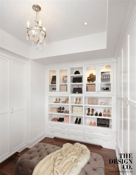 Closet with Tray Ceiling   Transitional   Closet   The