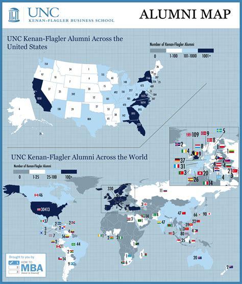 Unc Mba Kenan Vs Cornell by Mba Unc Alumni Map Visual Ly