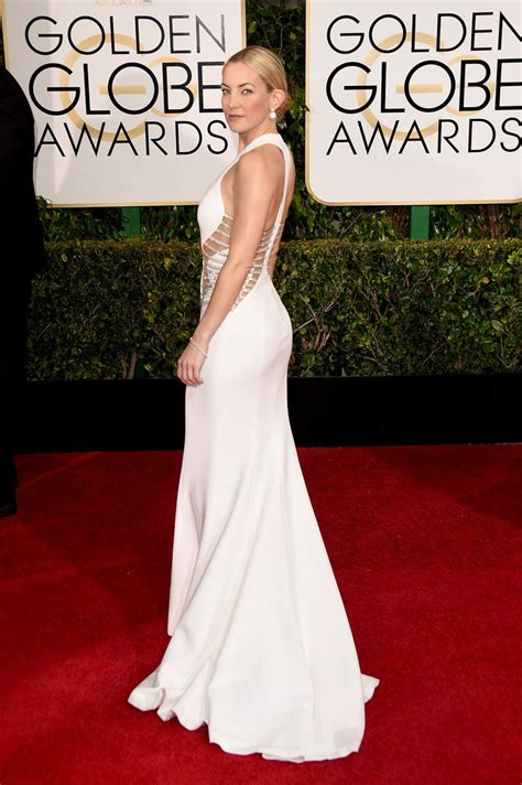 Wave Of White Gowns Hits Golden Globes by Kate Hudson In White Versace Dress 2015 Golden Globes