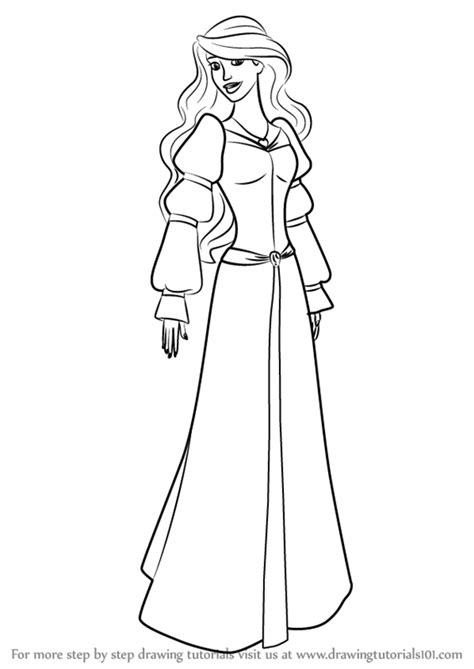 coloring pages swan princess learn how to draw odette from the swan princess the swan