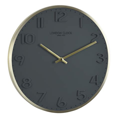 buy clock buy elvie grey wall clock 30cm online purely wall clocks