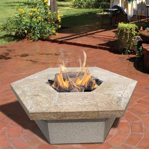 Firepit Reviews Calflame Hexagon Gas Pit Reviews Wayfair