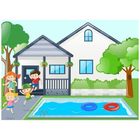 dibujos niños jugando en la piscina ni 241 os jugando en la piscina descargar vectores gratis