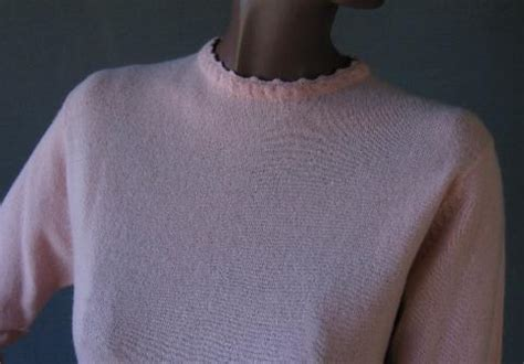 girly ls 60s vintage pink ls wool sweater girly s mags rags
