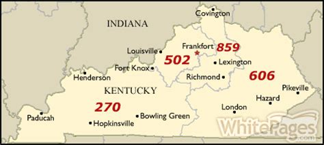 map kentucky area codes find phone numbers addresses more whitepages