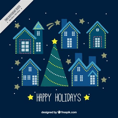 houses decorated with lights background with houses decorated with lights