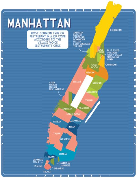 zip code map nyc manhattan infographic of the day new york city s unmapped food