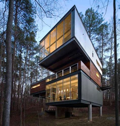 modern industrial house plans sloped terrain house modern industrial meets nature modern house designs