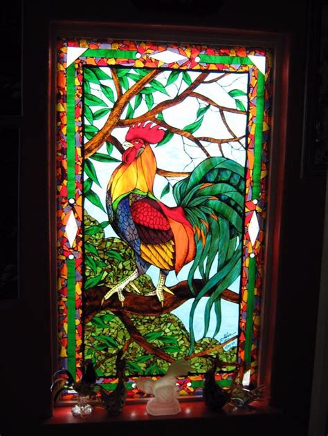 stained glass rooster l rooster delphi artist gallery