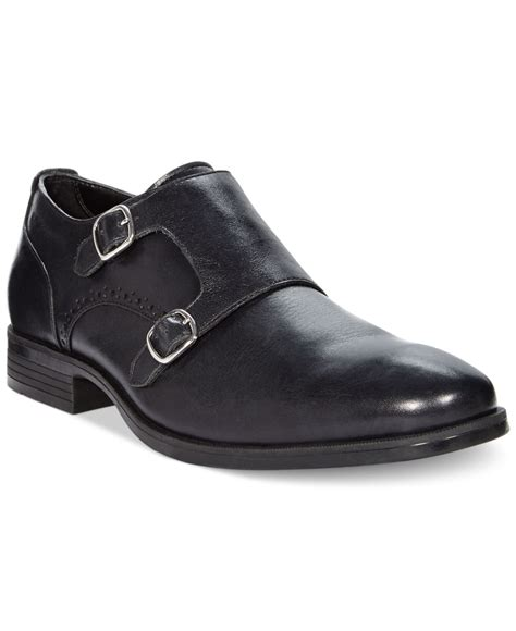 cole haan copley monk shoes in black for lyst