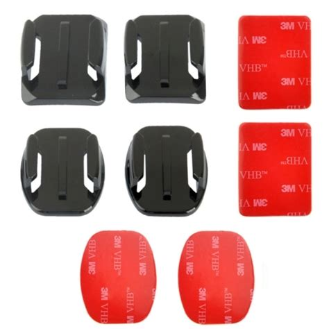 Gratis Ongkir Tmc Curved And Flat Surface Mount 3m Adhesive Sticker puluz 2 curved surface mounts 2 flat surface mounts 4 adhesive mount stickers for gopro