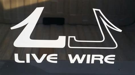 live wire vinyl decal colors available 6 quot x3 5