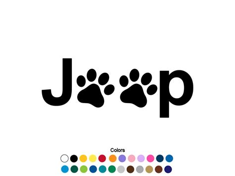 jeep decal stickers jeep paw print decal jeep sticker jeep decal paw print sticker
