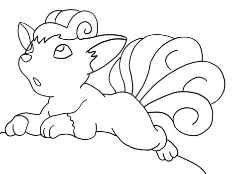 pokemon coloring pages of vulpix pokemon vulpix coloring pages images pokemon images