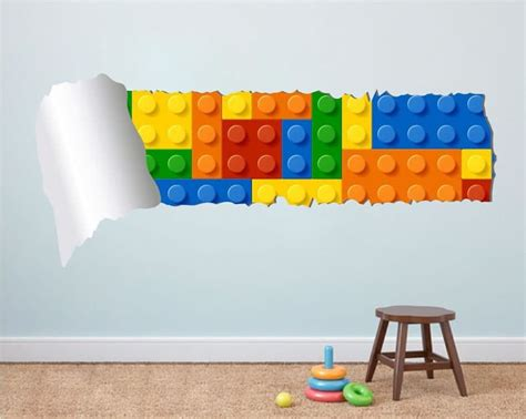 lego brick wall stickers are fun way to redecorate any room