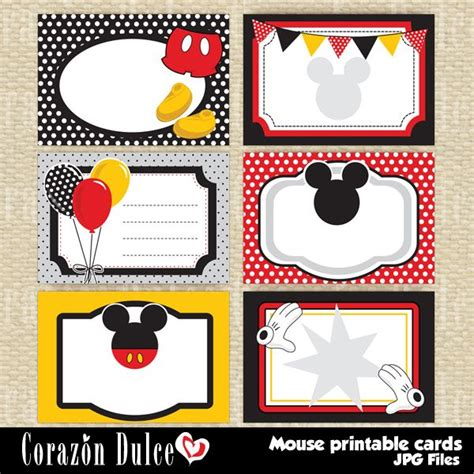 minnie mouse place cards template mouse printable cards printable cards for