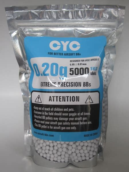 Bb Gotri Plastik 0 20 Cyc Precision Bb 0 20 Ori 5000btr 6mm 0 20g airsoft bbs airsoft bb biodegradable bio bb cyc