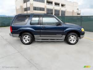 true blue metallic 2002 ford explorer sport exterior photo