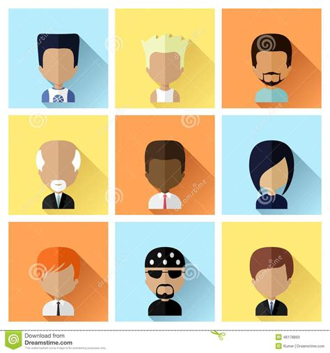 Motif Pattern And Profile   businessman profile colorful avatar isolated flat design