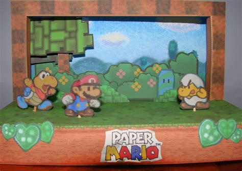 Paper Mario Papercraft - paper mario diorama papercraft by canasominous on deviantart
